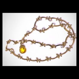 Gold rhinestone necklace